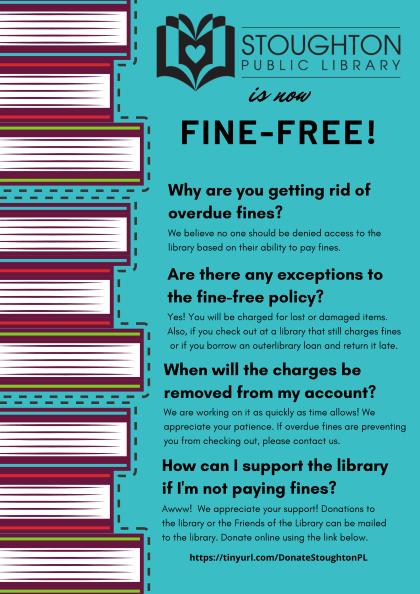 Stoughton Public Library is fine-free