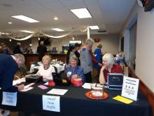 Registration table at the event