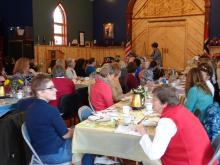 Friends of the Library enjoying the Luncheon