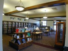 The library's Mezzanine level inside the original Carnegie library, restored and renovated around 2005.