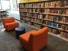 Thanks to a generous community donation, we were able to purchase new furniture for our tween (juvenile fiction) area in 2017.