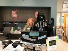 The 501st Legion Wisconsin Garrison visited for Star Wars day in June 2018. 275 people attended!