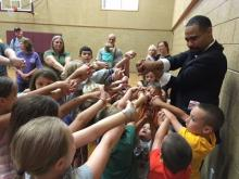 Excited children learned a magic trick from Matthew Teague during our Summer Library Program 2018 finale. 160 attended.